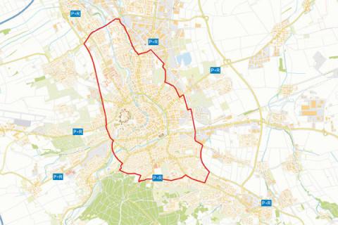 Umweltzone Erfurt - die grüne Plakette ist Pflicht